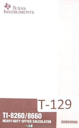 Texas Instruments Ti-8260/8660, Calculator Guides Manual