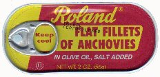 Anchovie Fillets in Olive Oil 56g can by Roland