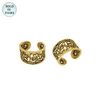 Unique Design Ear Cuffs 14k Gold Plated
