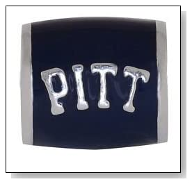 University of PITTSBURGH PITT Logo Blue 925 Silver European College Charm Bead