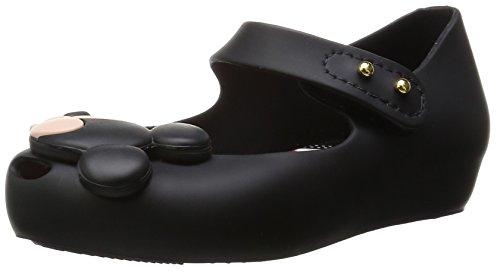 MINI MELISSA -Ballerina nera in plastica MELFLEX, gomma profumata, di Topolino e Minnie , scarpa Disney, Bambina-22/23
