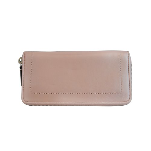 Coach   Coach 50445 Blush Campbell Turnlock Leather Zip Around Accordion Wallet