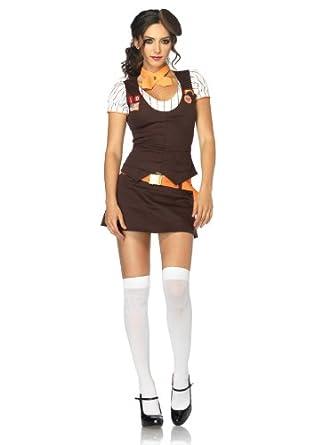 5 PC. Ladies Cookie Scout Vest Top Set - Medium/Large - Brown