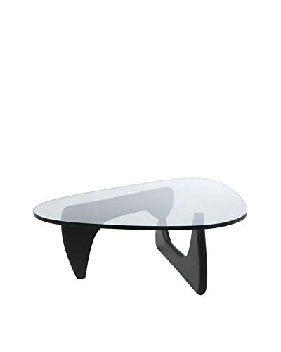 Aeon Euro Home Collection Tokyo Coffee Table, Black/Clear