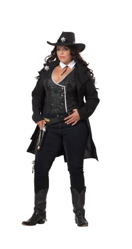 [California Costumes Women's Sheriff Police XXL Black] (Sheriff Costume Women)