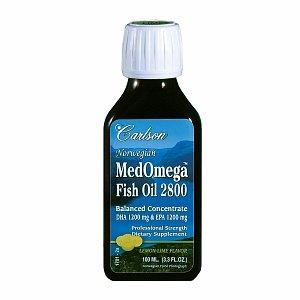 Carlson Norwegian MedOmega Fish Oil 2800, Lemon Lime 3.3 fl oz (100 ml)