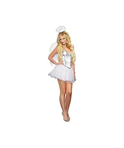 Sexy Halo Heavenly Winged Angel Womens Halloween Party Dress Costume