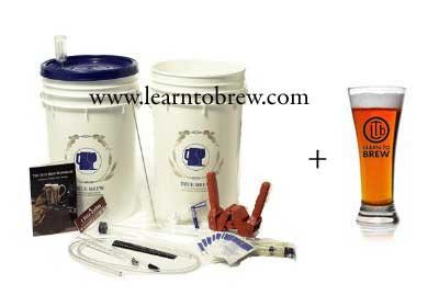 Basic Home Brew Beer Brewing Kit with 5-gallon India Pale Ale (IPA) Beer Ingredients Included