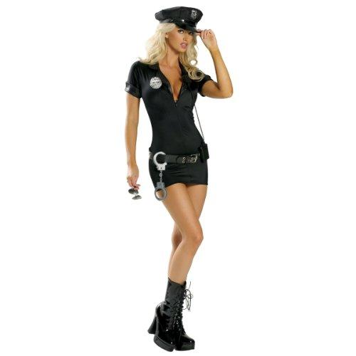 ポリス ブラック 警官 衣装、コスチューム 大人女性用 警察 サイズML