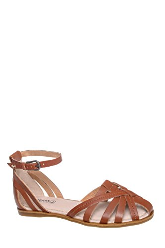June Ankle Strap Flat Sandal