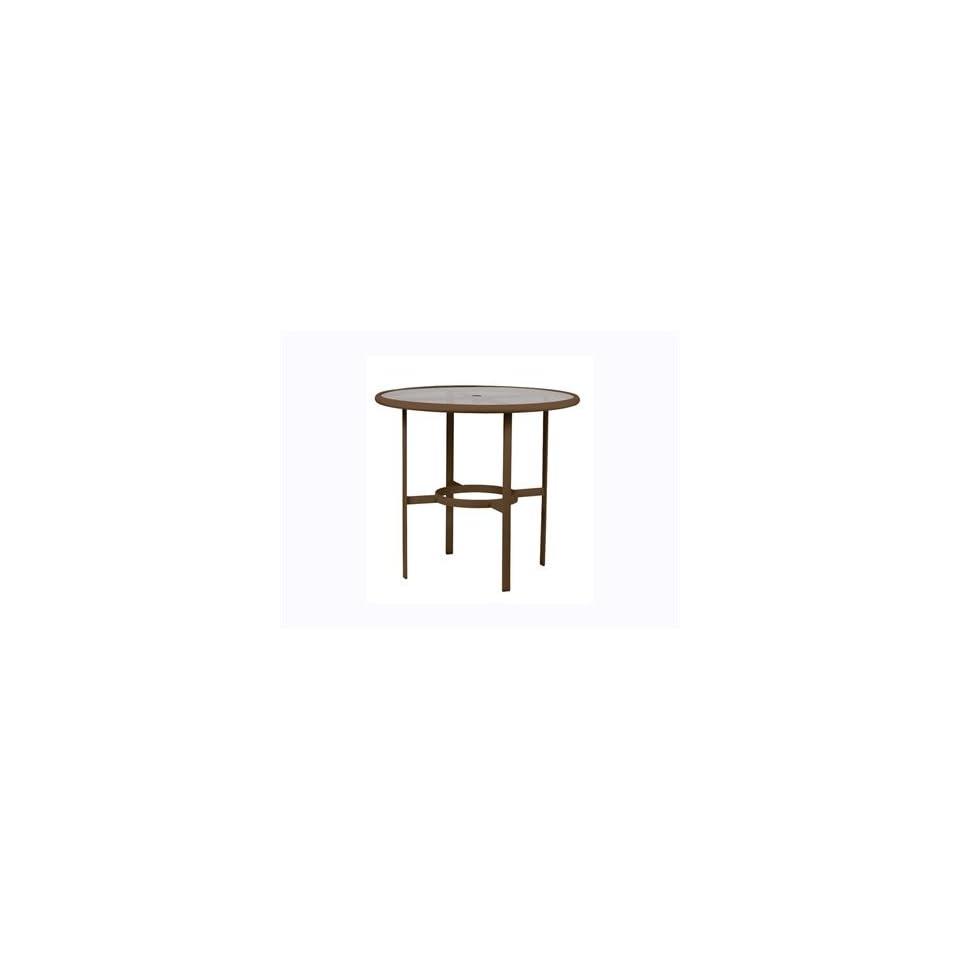 Tropitone Acrylic & Glass Cast Aluminum 42 Round Patio Bar Table