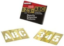 Brass Stencil Letter amp Number Sets - 1-12quot 92pc letter and number set stencil