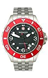 Wenger AquaGraph 1000m Red Bezel Black Dial Men's Watch #72228