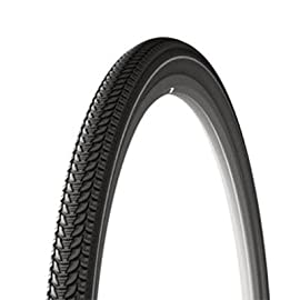 Michelin Tracker Hybrid Bicycle Tire - Protek Plus Reflective Sidewalls - 700 x 35 - 32000
