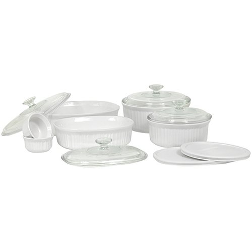 CorningWare French White 12-Piece Bake-and-Serve Gift Set