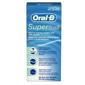 Oral-B Super Floss Dental Floss Original, 50 Pre-Cut Strands (Pack of 6) (Dental Super Floss compare prices)