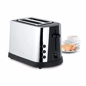 Stainless steel 2 slice toaster - black/ Silver by Meyer Prestige