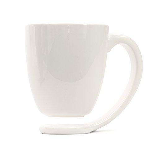 Plain white porcelain mug and handle best gift ideas for for Mug handle ideas