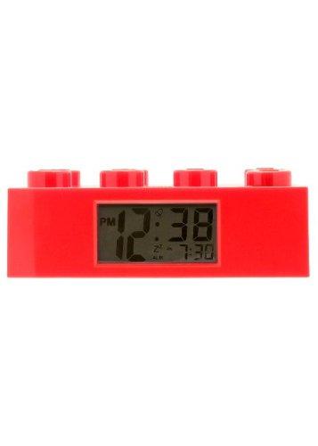 LEGO Kids' 9002168 Red Plastic Brick Alarm Clock