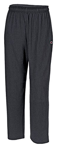 Champion Authentic Men's Open Bottom Jersey Pants_Granite Heather_X-Large