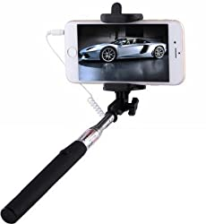 Digitek Premium Selfie Stick 3.5 mm Aux Cable Take Pole handheld For Gionee CTRL V2 .