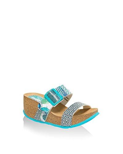 Desigual Keil Sandalette Bio blau
