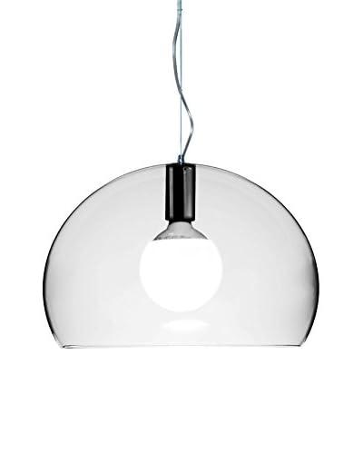 Kartell Lámpara De Suspensión Fl/Y Small Cristal Ø 38 cm H 28cm H min÷max: 40÷232cm
