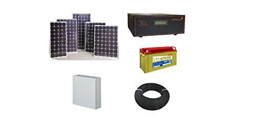 Rooftop Urja 1500W Solar Battery System (6 250Wp Solar PV Module, MPPT Charge Controller)