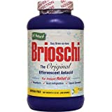 Brioschi Original All Natural Effervescent Antacid, Lemon Flavor 8.5 oz Bottle