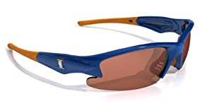 NCAA Illinois Fighting Illini Dynasty Sunglasses with Bag, Blue and Orange, Adult by Maxx