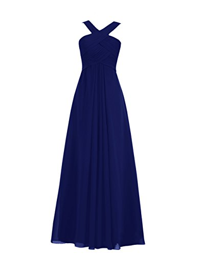 dd57861e45c Tidetell 2015 Long Bridesmaid Dress Ruched Empire Maternity Evening Gown  Royal blue Size 10