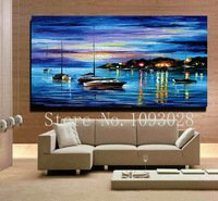 100-hand-painted-oil-painting-abstract-blue-ocean-scenery-corridor-household-decorates