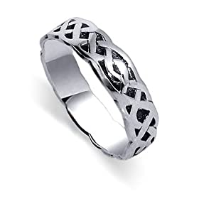 Adorable Genuine .925 Sterling Silver Celtic Mens Ring