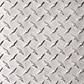"Aluminum 3003-H22 Diamond Tread Plate .025"" x 24"" x 24"", Bright Finish, ASTM B209"