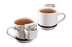 Tea Mug With Bag Holder - Set Of 2 by WalterDrake