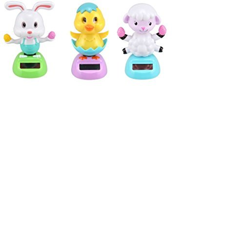 Solar Powered Dancing Easter Bunny, Lamb, and Chick - 3 Piece Set - 1