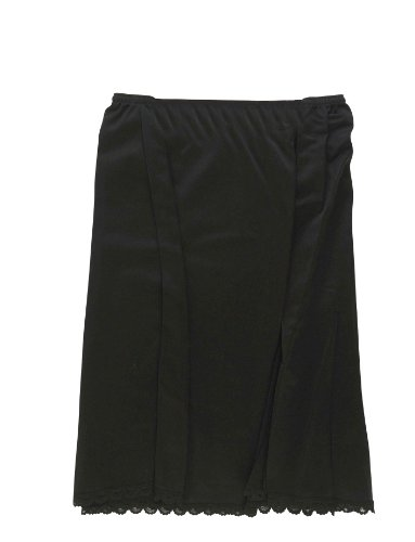 Valair Women's 100% Nylon Half Slip in Black – Small / 26 Inch