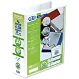Emgee Presentation Lever Arch File Clear Cover Pockets 2-Ring 70mm Spine A4 White Ref 560350 [Pack of 5]