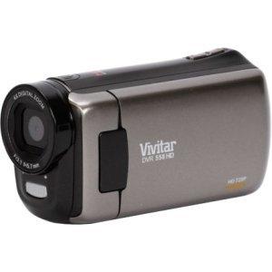 "SAKAR-VIVITAR Vivitar DVR 558HD Digital Camcorder - 2.4"" - Touchscreen LCD - CMOS - HD - Black<br><br>"