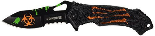 Z Hunter ZB-040OR Spring Assist Closed Knife, 4.5-Inch