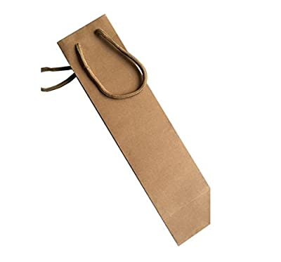 Elife 1-Bottle Light Brown Paper White and Red Wine Bag Holder, Pack of 6