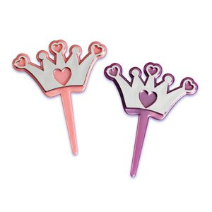 Amazon.com: PRINCESS Tiara CROWNS Pink & Purple 12 Cupcake Cake Pops