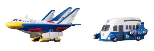 """Bandai duck shuttle æ""""¹ & lightning TM caravan [lightning eleven GO VS corrugated cardboard military secret W for theater]"""