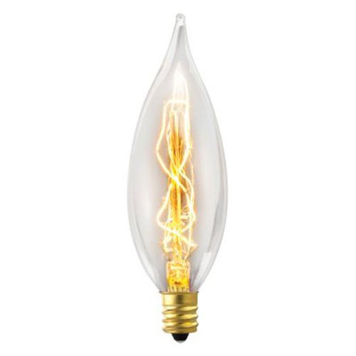 Cleveland Vintage Lighting Edison Flame Candelabra Bulbs: Globe Electric 25W Vintage Edison B10 Flame Tip