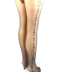 Amazon.com: Denier Super Bikini Pattern Stocking Tights: Sports