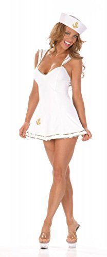 Nom de Plume, Inc Women's Sexy Sailor Dress Costume With Hat