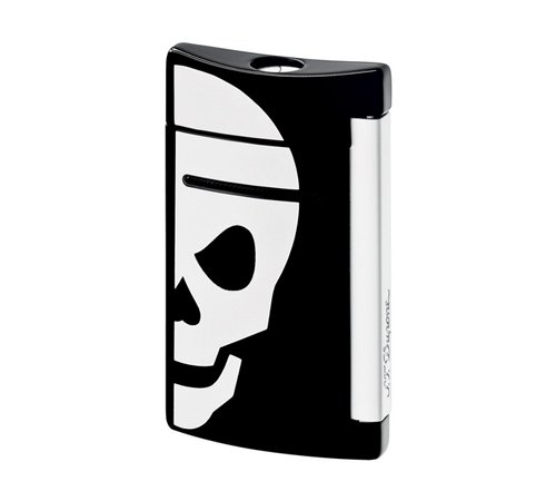 st-dupont-minijet-black-white-skull-lighter