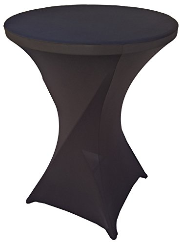 Goldstream Point Black 32 Inch Spandex Cocktail Tablecloth Round Folding Cover Stretch (Cocktail Table Tablecloth compare prices)