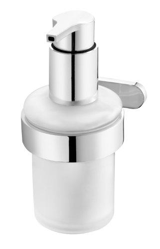 bisk-natura-distributeur-de-savon-liquide-mural-en-verre-givre-avec-support-finition-chrome