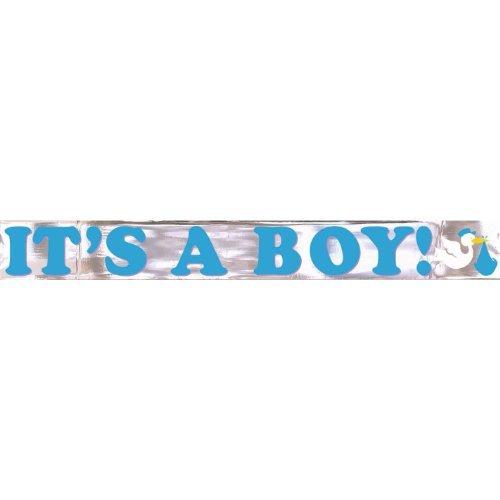 It's a Boy Metallic Banner 15ft